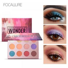 Popfeel High Pigment Matte Eyeshadow Eyes Makeup Pallete Shimmer Eye Shadow Palette Glitter Waterproof Lasting Makeup Easywear High Quality Eye Shadow Beauty Essentials