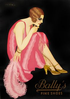 Federico Ribas poster: Bally's Fine Shoes (pink)