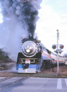 American Freedom Train at Lakeview Road in 1976 - SP 4449 out of Portland, OR - was stored at Oaks Park for many years.