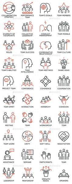 Team Work and Career Training Icons — Vector EPS #team #confidence • Available here → https://graphicriver.net/item/team-work-and-career-training-icons/19471611?ref=pxcr
