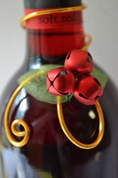 Christmas Wine Bottle Decoration or Hostess by CreativeArtbyME,