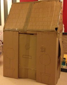 Cardboard Wendy House - building tips