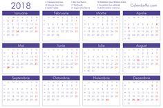 Imagini pentru calendar 2018 romanesc printabil