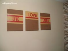 Live Love Laugh DIY Artwork