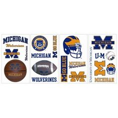 university of michigan themed bedroom google search With what kind of paint to use on kitchen cabinets for michigan wolverines stickers
