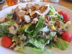 Jerk chicken salad at Lago Mar resort in Fort Lauderdale, FLA