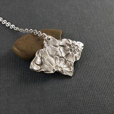 Artisan Necklace/ Fine Silver Pendant/Artisan Jewelry/ Fine Silver Jewelry/ Ethnic Necklace/ Silver Necklace/ Ethnic Jewelry/ PMC Necklace
