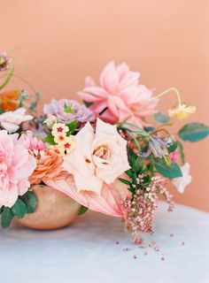 The prettiest mix of blush and terracotta: Photography : Kayla Barker Fine Art Photography Read More on SMP: http://www.stylemepretty.com/2016/07/21/terracotta-pink-take-center-stage-in-an-organic-wedding-inspo/