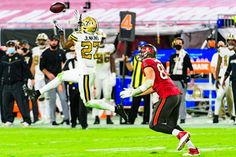 Saints DB Malcolm Jenkins intercepts a pass from Tom Brady Sports Action Photography, Saints Vs, Tom Brady, Nfl, Sunday, Football, Night, Soccer, Domingo