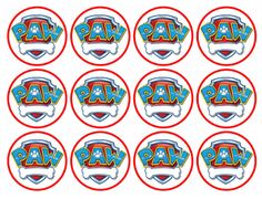 Free Printable Toppers of Paw Patrol. Paw Patrol Pinata, Paw Patrol Badge, Paw Patrol Party, Paw Patrol Birthday, Boy Birthday, Paw Patrol Cupcake Toppers, Paw Patrol Cupcakes, Escudo Paw Patrol, Imprimibles Paw Patrol