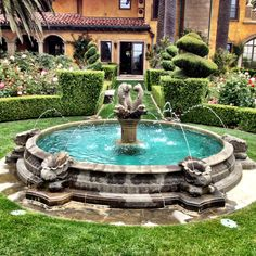 Italianate fountain.