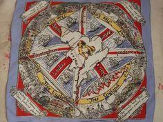 Vintage British England WW2 Rayon Lilac Edged by TinksVintageUK