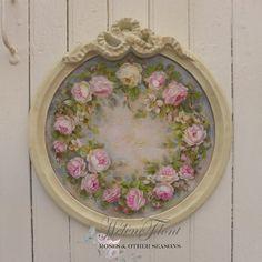 Wreath of Gustavian Roses by Helen Flont