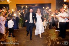 The Embassy Suites Jacksonville, Wedding venue. Perfect setting for an indoor wedding ceremony with an outdoor feel. Sparklers - Wedding Send-off