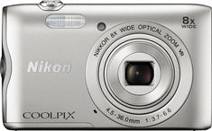 Just added to Digital Cameras on Best Buy : Nikon - COOLPIX A300 20.1-Megapixel Digital Camera - Silver