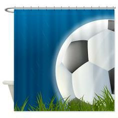 Soccer In The Rain Fun Shower Curtain. Perfect For Soccer Lovers!
