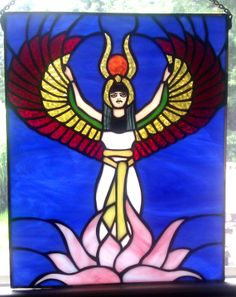 Winged Isis Panel