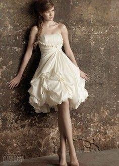 Vestido novia corto 14 | Handspire