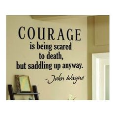 This quote is only on eight other things in my house. I might as well have it on a wall.