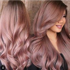 328 likes ombre rose gold hair, hair colors rose gold, rose hair color, ros Cabelo Rose Gold, Gold Hair Colors, Hair Colours, Rose Gold Hair Colour, Ombre Rose Gold Hair, Ombre Hair, Balayage Hair, Pretty Hairstyles, Hairstyle Ideas