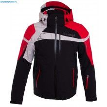 Spyder Men Titan Jacket – Black Red Cirrus
