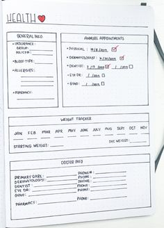 Check out this guide awesome guide on life organization for bullet journals! Easily create a life management system using these epic bujo spreads! Bullet Journal Health, Bullet Journal Tracker, Bullet Journal How To Start A, Bullet Journal Notebook, Bullet Journal Aesthetic, Bullet Journal Ideas Pages, Bullet Journal Layout, Bullet Journal Inspiration, Journal Pages