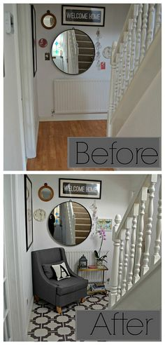 Hallway and Cloakroom Floor Makeover : Harvey Maria Harvey Maria, Hallway Inspiration, Luxury Vinyl, Vinyl Flooring, Home Staging, Home Improvement Projects, Porch Decorating, Home Renovation, Luxury Homes