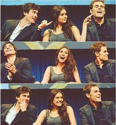 The Vampire Diaries cast at Paleyfest. i love these people.