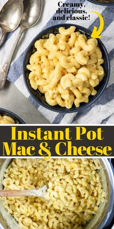 A classic recipe for Mac and Cheese made in your Instant Pot. This is the PERFECT family friendly dinner or side dish! Side Dish Recipes, Pasta Recipes, Dinner Recipes, Instant Pot Pressure Cooker, Pressure Cooker Recipes, Healthy Foods, Healthy Recipes, Mac And Cheese Homemade, Dinner Side Dishes