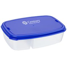 Square off against your hunger with this imprinted container!