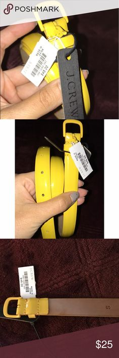 J. Crew yellow belt! NWT Size Small J. Crew belt that has never been worn. Beautiful yellow color. J. Crew Accessories Belts