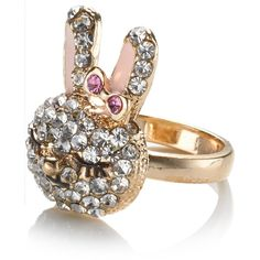Accessorize Daisy Bunny Ring ($14) ❤ liked on Polyvore