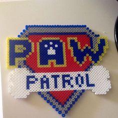 Paw Patrol logo  hama beads by  maries_perlerart