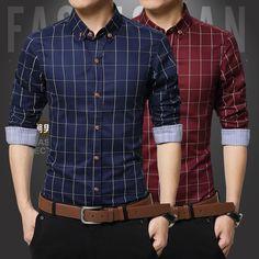 2017 Spring New 8Color Fashion Shirt Men's Slim Fit Social Man long Sleeve Shirts Men Clothing Slim Female Casual shirts
