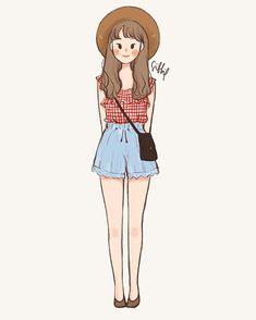 Cartoon Art Styles, Cute Art Styles, Cartoon Drawings, Cute Couple Drawings, Cute Drawings, Illustration Girl, Character Illustration, Cover Wattpad, Character Art