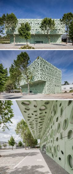 This sculptural building facade in Portugal, was inspired by microscopic nanotubes.
