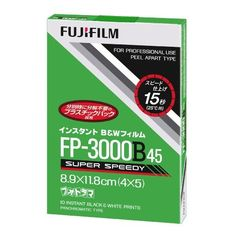 """Fujifilm FP-3000B Instant Black & White Print Film, ISO 3200, 4"""" x 5"""", Pack of Ten (10) Outdated"""