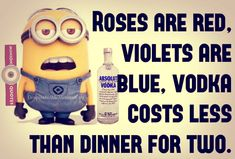 6 Humorous Being Single Quotes - Minion Quotes Funny Cute, Hilarious, Vodka Blue, Absolut Vodka, Minions Quotes, Funny Thoughts, Funny Memes, Funny Sayings, Positive Quotes