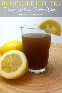 When you're tired of drinking water, what are your options for a clean eating diet? Try this homemade iced tea using honey instead of white sugar.This clean eating recipe is so delicious and easy to make!