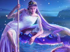 The Zodiac : Kagaya Fantasy Art - Cancer - Kagaya Zodiac Sign Wallpapers 5 My Fantasy World, Fantasy Art, Zodiac Art, Zodiac Signs, Cancer Love Horoscope, Art Zodiaque, Beautiful Goddess, Beautiful Ladies, Cancer Sign