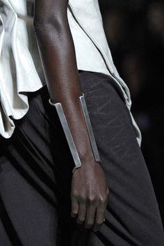 black, bold defiance, sheer panels, monochrome, 100% self sufficient, bright silver, cuffs