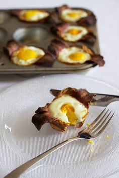 Bacon, egg and toast cups from the April/May issue of Facets!