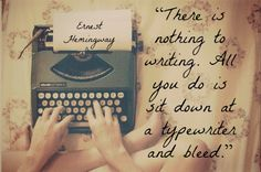 Interesting in light of the fact that Hemingway preferred to stand while writing.