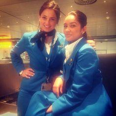 KLM stewardess crewfie @narjessrkaiek