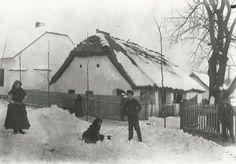 A tél örömei, Zalaapáti 1907 (fotó Sági János) Central Europe, Homeland, Old Photos, Roots, Folk, Old Things, 1, Landscape, History