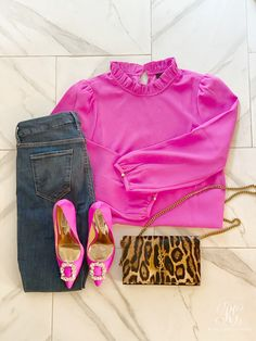 try this easy and oh so sexy date night outfit #outfit #flatlay #valentinesdate #valentinesoutfit #clothes #pinkshirt #leopardpurse #sexyoutfit #classyoutfit #datenight #datenightoutfit #dateoutfit #valentinesdinneroutfit #valentines #valentinesday #outfitoftheday #Outfitideas #ootd