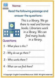 English Stories For Kids, Kids English, English Reading, English Words, English Teaching Resources, English Worksheets For Kids, Teaching Tools, Reading Comprehension For Kids, Reading Skills