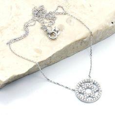 'Jewish Star of David' Sterling Silver Cubic Zirconia Necklace  Price : $43.25 http://www.silverplazajewelry.com/Jewish-Sterling-Silver-Zirconia-Necklace/dp/B00G9J9WYQ