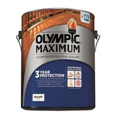 Olympic Maximum 1 Gal Clear Exterior Waterproofing Sealant 57500a 01 The Home Depot Exterior Stain Exterior Wood Stain Wood Deck Stain