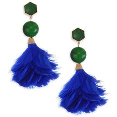 Tory Burch Feather Drop Earrings ($178) ❤ liked on Polyvore featuring jewelry, earrings, feathered earrings, pink feather earrings, vintage jewellery, gold tone drop earrings and tory burch earrings